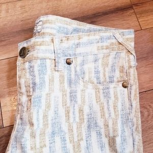 Free People Jeans - Free people size 28 pant pattern pants ankle zippe